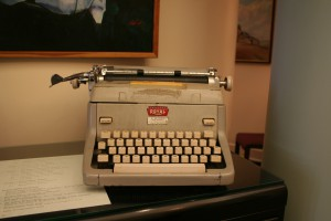 Thomas Merton's typewriter, at Bellarmine University