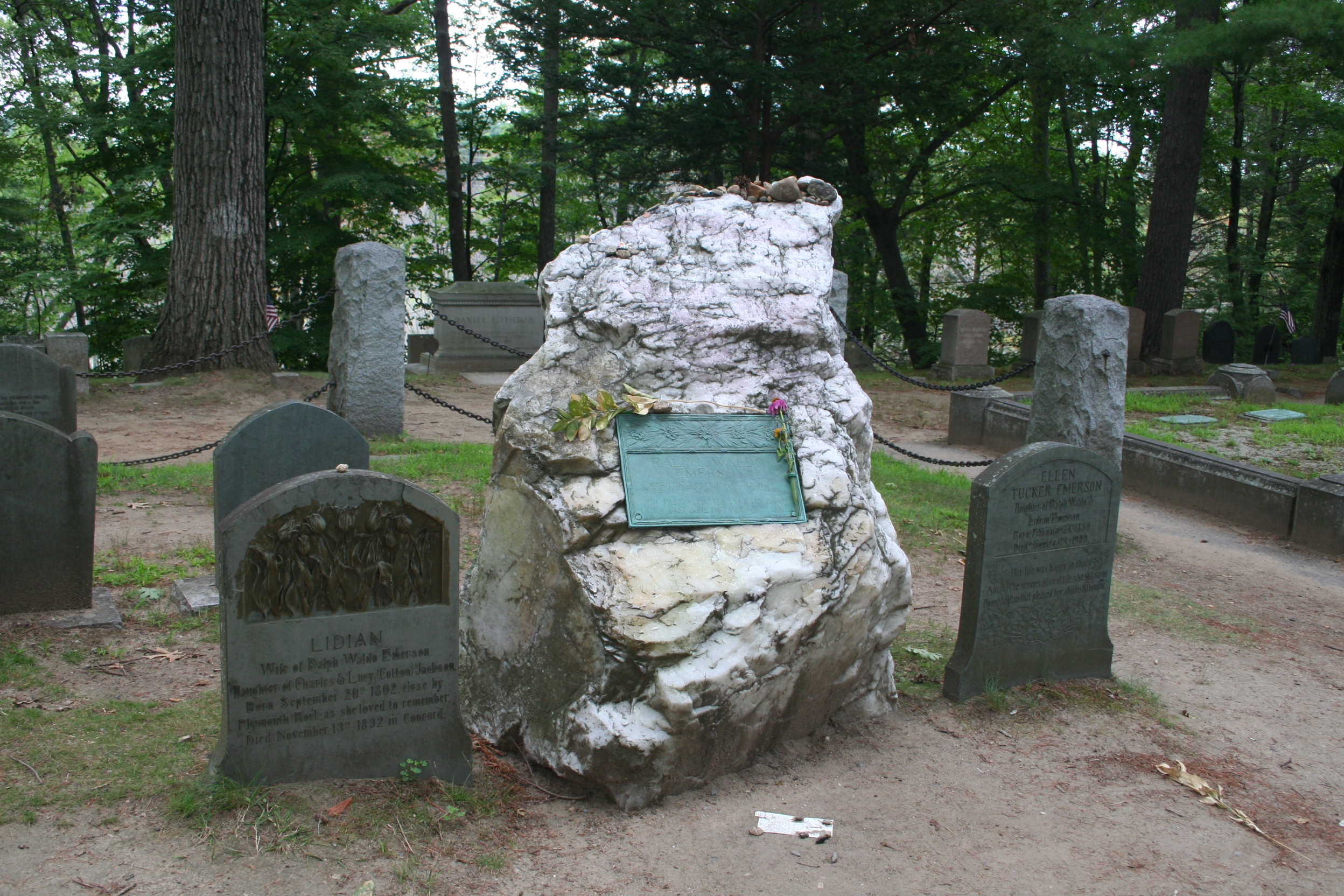 Civil War tombstone in Sleepy Hollow Cemetery in Concord