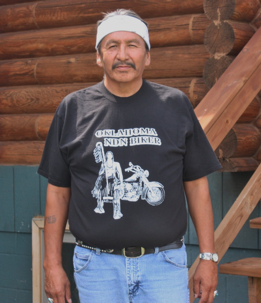 Corey Hairy Shirt is caretaker of Bear Butte Lodge (Bob Sessions photo).