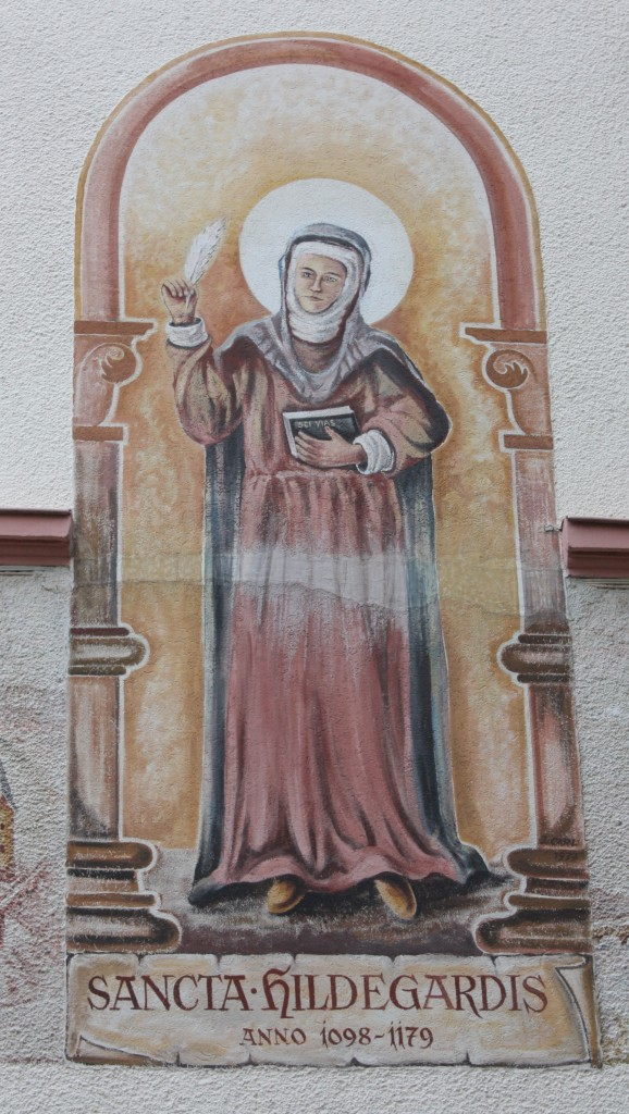 Mural of Hildegard in Bingen (Bob Sessions photo)