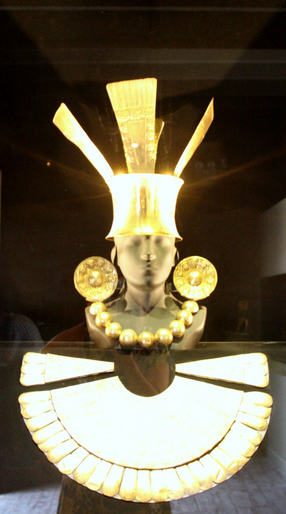 The Larco Museum in Lima, Peru, contains stunning gold pieces that were worn by the Inca elite. (Lori Erickson photo)